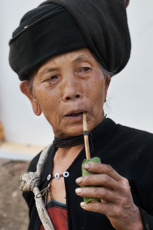 Burmese Woman with Pipe 2